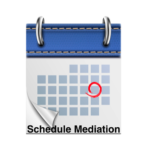 Blue Calendar with Schedule Mediation